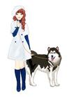 Bild Mädchen mit Hund