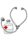 Bild Medizin und Stethoskop