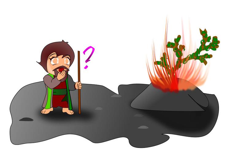 Bild Moses und der brennende Busch - Abb. 27430
