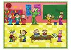 Bild multikulturelle Klasse