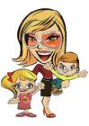 Bild Mutter mit Kindern