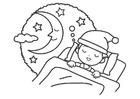 Malvorlage  Nacht - Schlaf