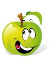 Bild Obst - grüner Apfel