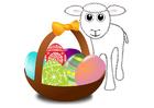 Bild Osterkörbchen mit Lamm