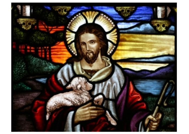 bild ostern  jesus mit lamm  kostenlose bilder zum