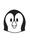 Malvorlage  Pinguinkopf