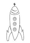 Malvorlage  Rakete