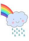 Bild Regenbogen mit Regen