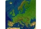 Reliefkarte Europa