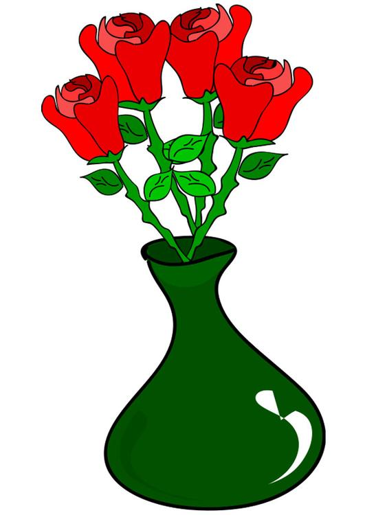 bild rosen in vase abb 21281. Black Bedroom Furniture Sets. Home Design Ideas
