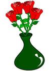 Bild Rosen in Vase