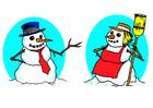 Bild Schneemann und Schneefrau