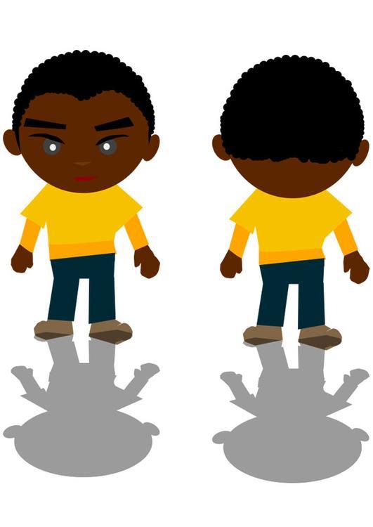 Weißes mädchen und schwarzer junge aus