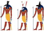 Bild Seth, Horus und Anubis