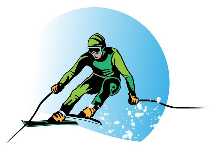 bild ski fahren kostenlose bilder zum ausdrucken. Black Bedroom Furniture Sets. Home Design Ideas