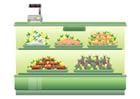 Bild Supermarkt - Fischtheke