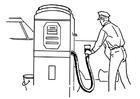 Malvorlage  Tankstelle