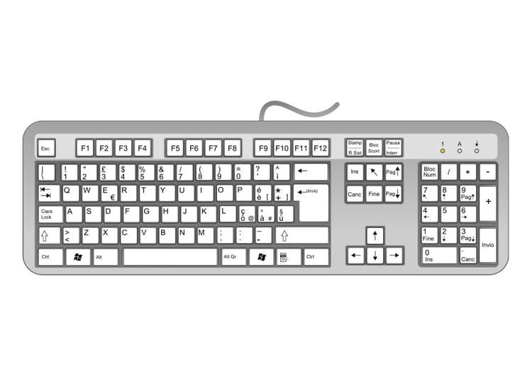 Computer Tastatur Vorlage Public Domain Vektoren 11