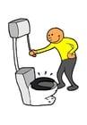 Bild Toilette spülen