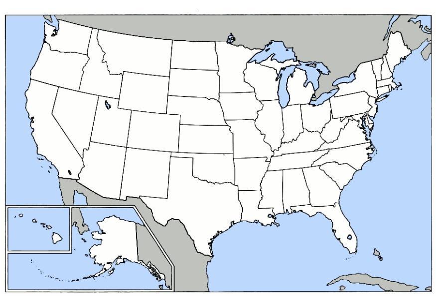 Blank United States Map Quiz Neu Neu Leer