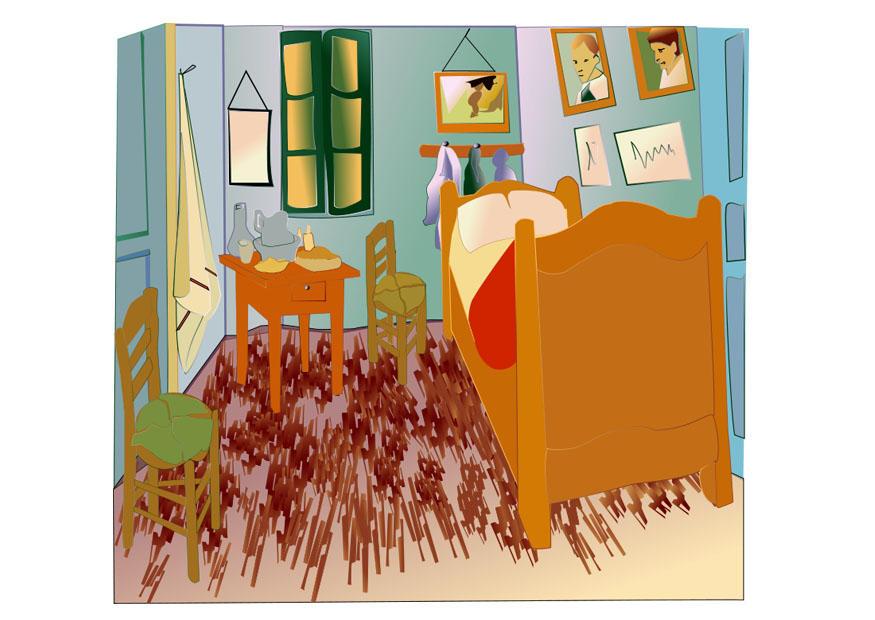 bild vincent van gogh - schlafzimmer in arles - abb. 27991 - Schlafzimmer In Arles