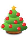 Bild Weihnachtsbaum mit Christbaumkugeln
