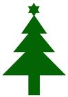 Bild Weihnachtsbaum mit Stern