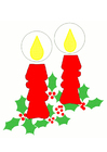 Bild Weihnachtskerzen