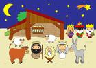 Bild Weihnachtskrippe
