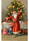 Bild Weihnachtsmann am Weihnachtsbaum
