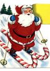 Bild Weihnachtsmann auf Skiern