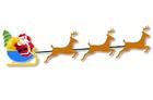Bild Weihnachtsmann mit Schlitten