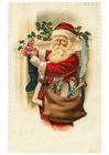 Bild Weihnachtsmann mit Spielzeug