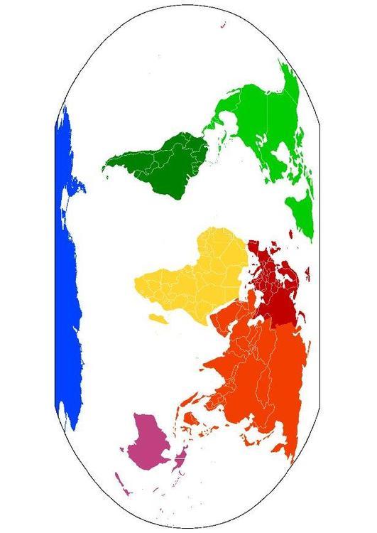 Bild weltkarte kontinente abb 15669 - Weltkarte basteln ...