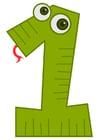 Bild Zahl - 1