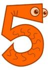 Bild Zahl - 5