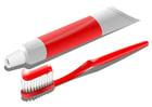 Bild Zahnbürste mit Zahncreme