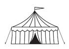 Malvorlage  Zirkuszelt