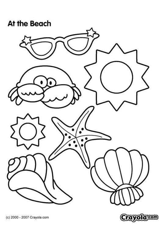 Großartig Malvorlagen Strand Thema Bilder - Ideen färben - blsbooks.com