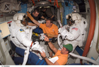 Foto Astronaut in der Raumstation