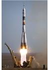 Foto aufsteigende Rakete