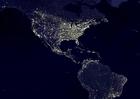 Foto die Erde bei Nacht - Stadtgebiete 3