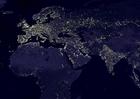 Foto die Erde bei Nacht - Stadtgebiete 4