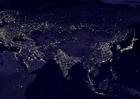 Foto die Erde bei Nacht - Stadtgebiete 5