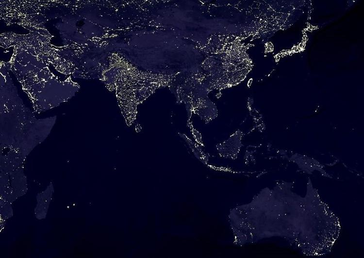Foto Die Erde Bei Nacht Stadtgebiete 6 Abb 8029