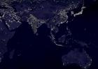 Foto die Erde bei Nacht - Stadtgebiete 6