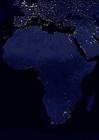 Foto die Erde bei Nacht - Stadtgebiete Afrika