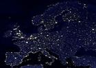 Foto die Erde bei Nacht - Stadtgebiete Europa