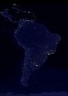 Foto die Erde bei Nacht - Stadtgebiete Südamerika