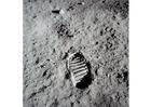 Foto die ersten Schritte auf dem Mond